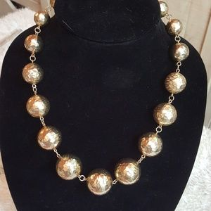 Fabulous Chicos Gold Ball Necklace